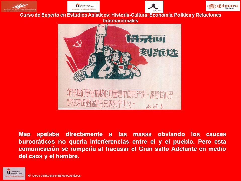 Mao apelaba directamente a las masas obviando los cauces burocráticos no quería interferencias entre el y el pueblo.