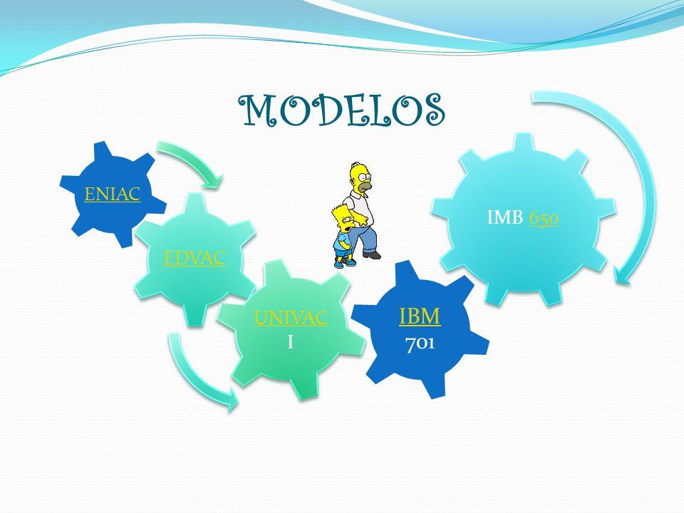 MODELOS IMB 650650 EDVAC UNIVAC UNIVAC I IBM IBM 701 ENIAC