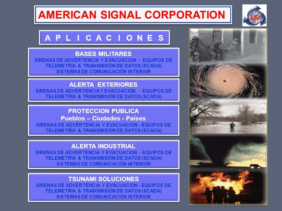 BASES MILITARES SIRENAS DE ADVERTENCIA Y EVACUACION - EQUIPOS DE TELEMETRÍA & TRANSMISIÓN DE DATOS (SCADA) SISTEMAS DE COMUNICACIÓN INTERIOR BASES MIL