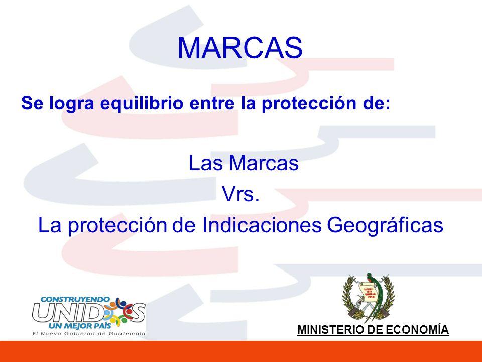 MINISTERIO DE ECONOMÍA MARCAS Se logra equilibrio entre la protección de: Las Marcas Vrs.