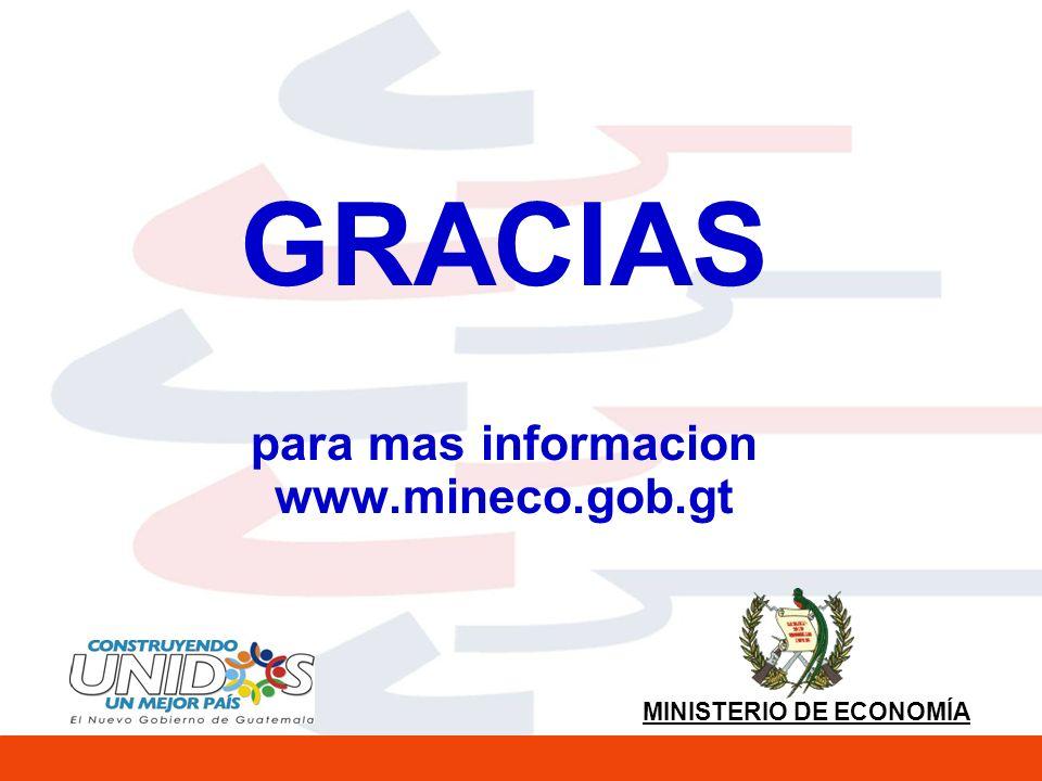 MINISTERIO DE ECONOMÍA GRACIAS para mas informacion www.mineco.gob.gt