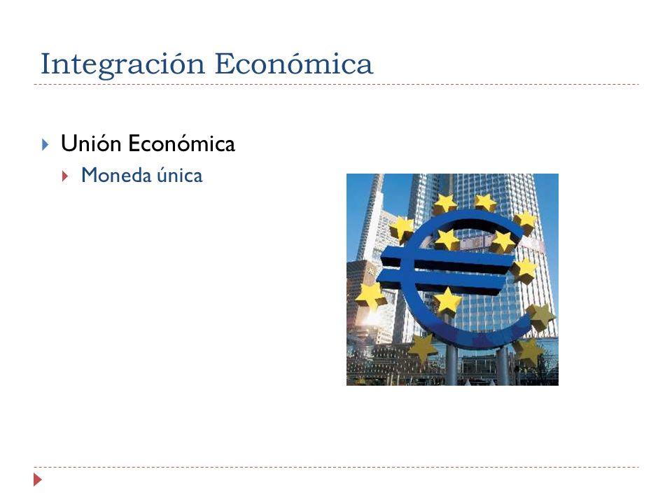 Integración Económica Unión Económica Moneda única