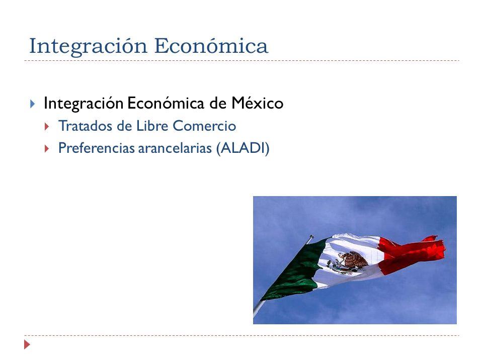 Integración Económica Integración Económica de México Tratados de Libre Comercio Preferencias arancelarias (ALADI)