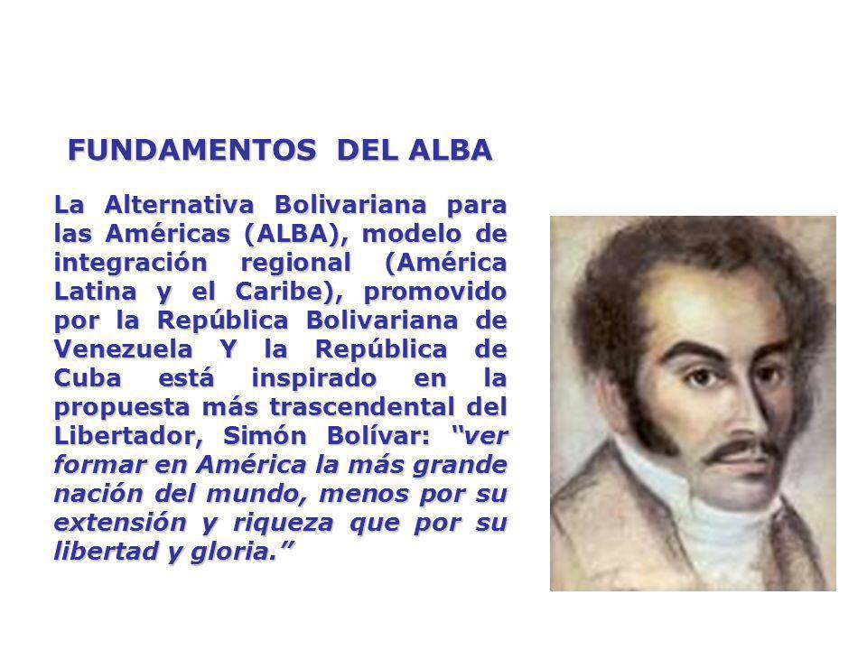 ALBA-TCP VERSUS ALCA OBJETIVOS DEL ALCA OBJETIVOS DEL ALBA-TCP Liberalización absoluta del comercio y las inversiones.