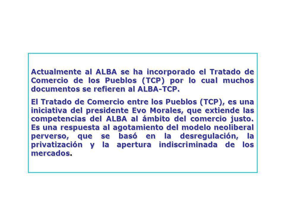 ALBA-TCP VERSUS ALCA INVERSIONES EN EL ALCA INVERSIONES EN EL ALBA-TCP Eliminación de controles y requisitos de desempeño para la inversión extranjera.