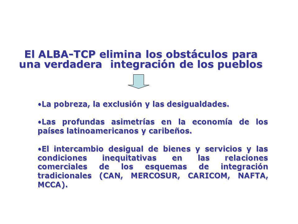 ALBA-TCP VERSUS ALCA SERVICIOS EN EL ALCA SERVICIOS EN EL ALBA-TCP Liberalización total del comercio de servicios (financieros, telecomunicaciones, consultoría, ingeniería, turismo, educación y salud).
