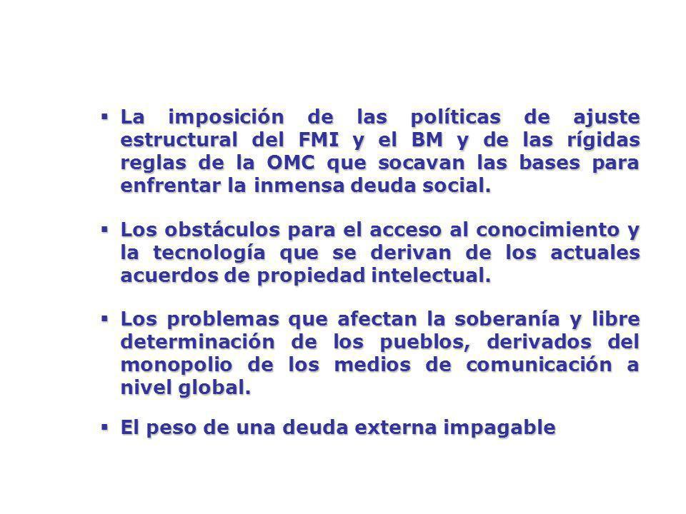 OTRO MUNDO ES POSIBLE Es necesario avanzar hacia la estabilidad del Continente: en lo político, en lo económico, en lo social, este modelo del ALBA apunta hacia la estabilidad y citando las palabras de Cristo: El único camino a la paz, es la Justicia; la hermandad, la igualdad … no habrá paz, mientras no haya justicia en el mundo Hugo Chávez Presidente de la República Bolivariana de Venezuela