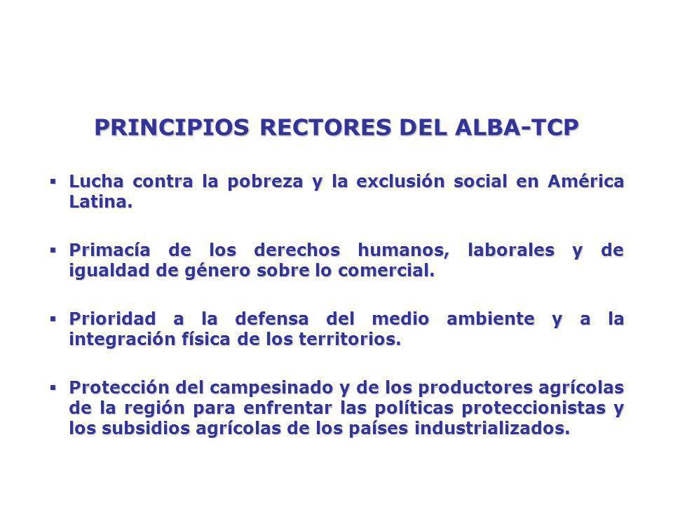 ALBA-TCP VERSUS ALCA AGRICULTURA EN ALCAAGRICULTURA EN EL ALBA- TCP Se exige la eliminación de los aranceles, licencias y cuotas en plazos perentorios, pero las principales potencias no eliminarían los subsidios.