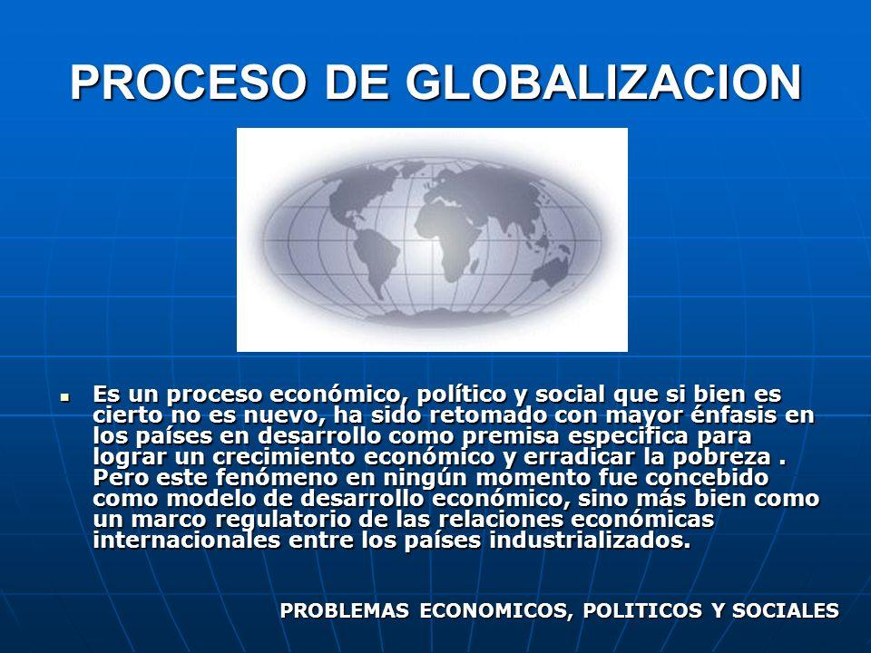 Es un proceso económico, político y social que si bien es cierto no es nuevo, ha sido retomado con mayor énfasis en los países en desarrollo como prem