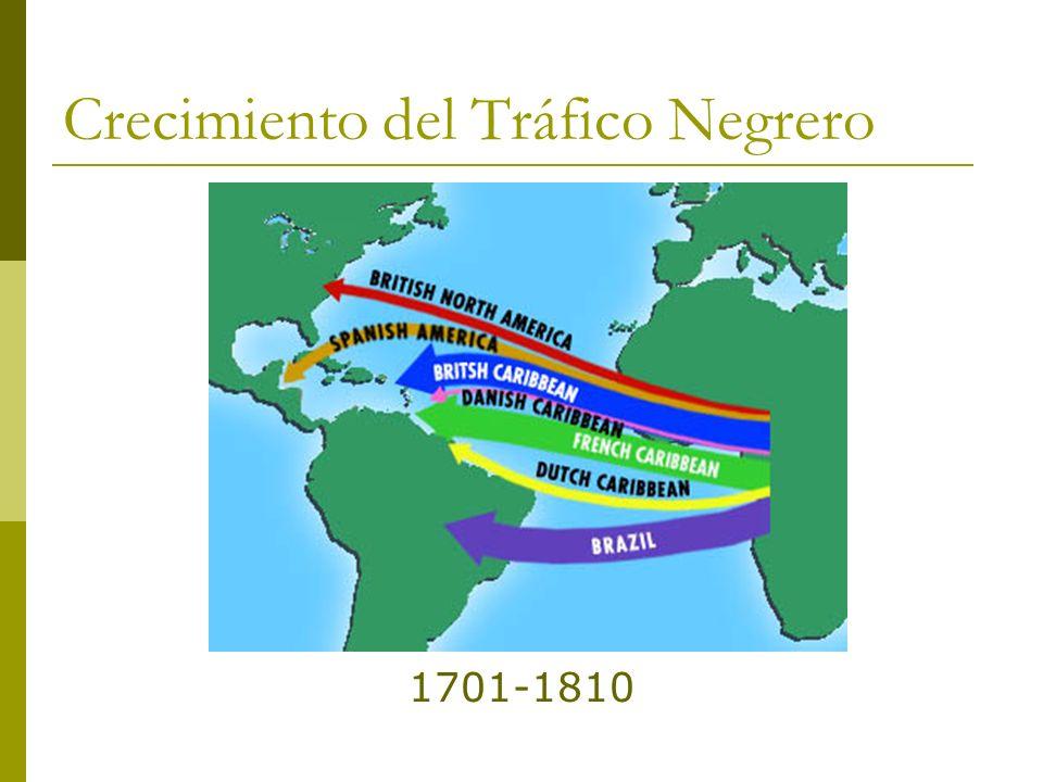 Crecimiento del Tráfico Negrero 1701-1810
