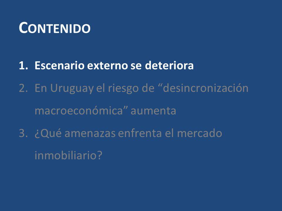 Se profundiza el riesgo de desincronización macroeconómica.