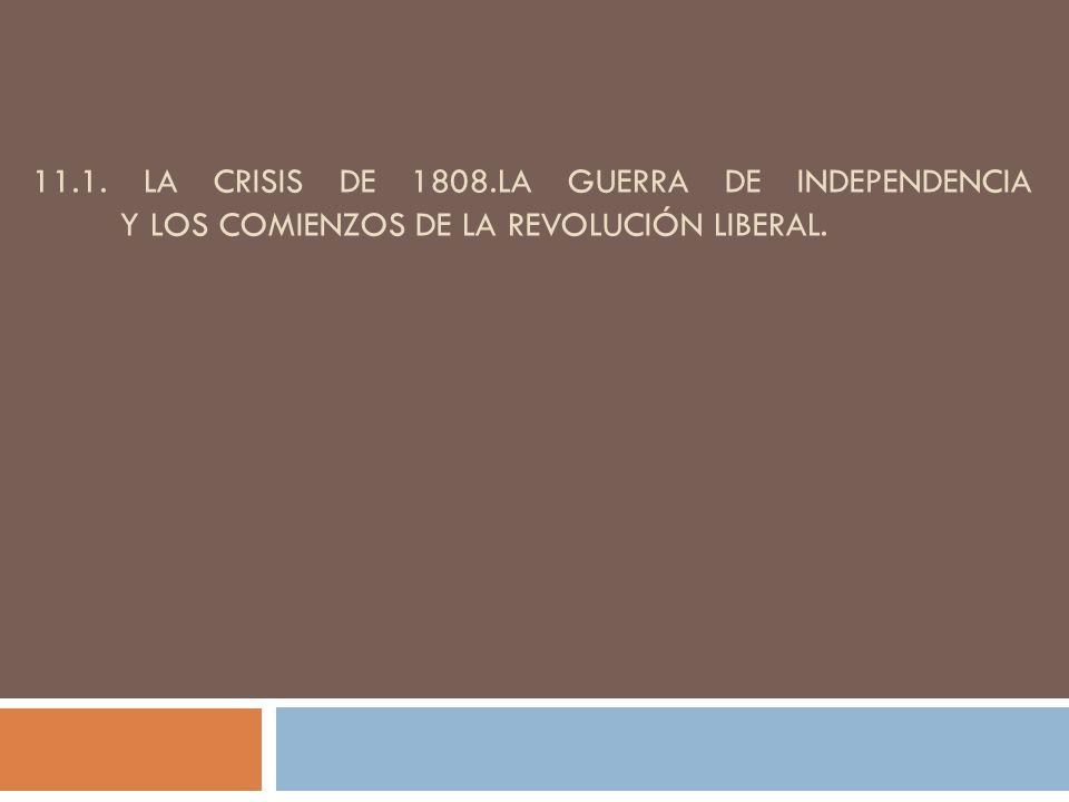 A) El impacto de la revolución francesa (1789/1796) Floridablanca: cierre de las fronteras, censura de prensa Aranda se resiste a involucrar a España en una guerra contra Francia Godoy, 1792.