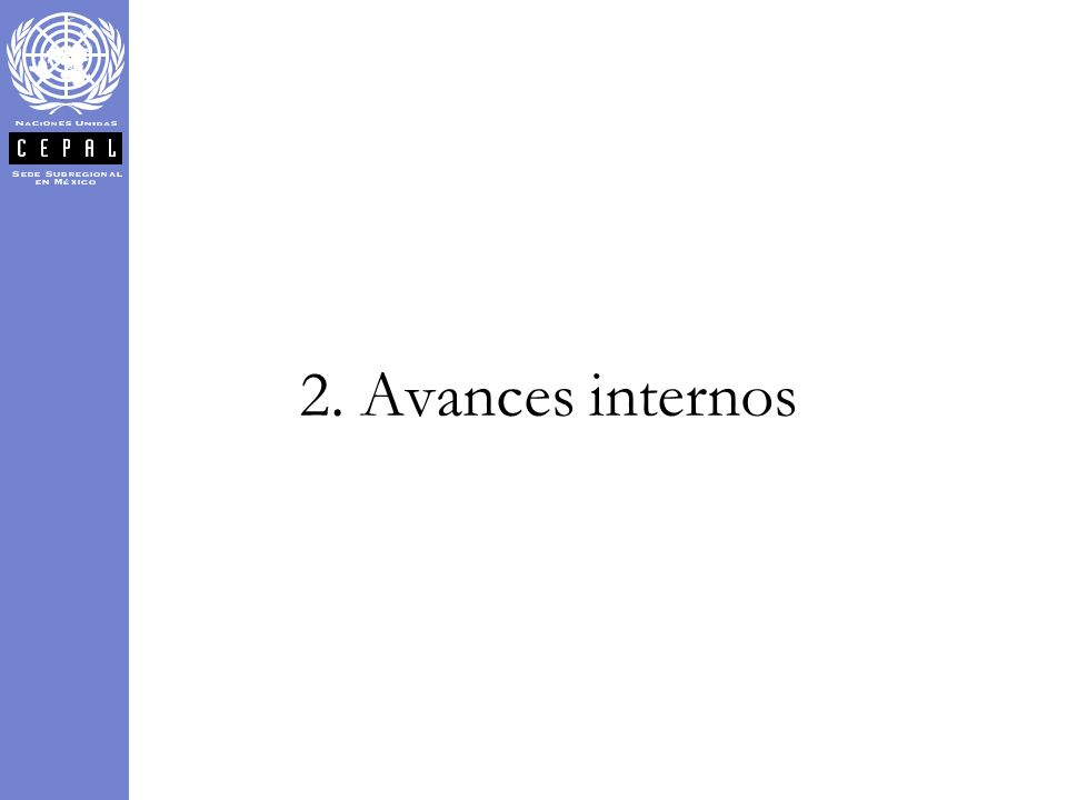 2. Avances internos