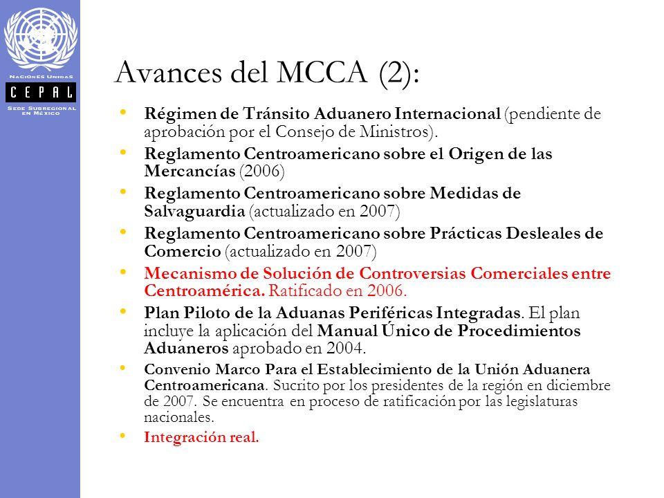 Avances del MCCA (2): Régimen de Tránsito Aduanero Internacional (pendiente de aprobación por el Consejo de Ministros). Reglamento Centroamericano sob