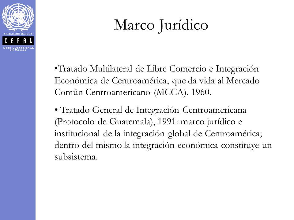 Marco Jurídico Tratado Multilateral de Libre Comercio e Integración Económica de Centroamérica, que da vida al Mercado Común Centroamericano (MCCA). 1