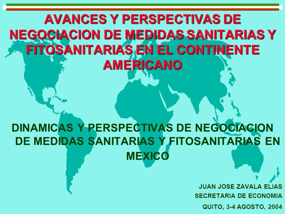 AVANCES Y PERSPECTIVAS DE NEGOCIACION DE MEDIDAS SANITARIAS Y FITOSANITARIAS EN EL CONTINENTE AMERICANO DINAMICAS Y PERSPECTIVAS DE NEGOCIACION DE MED
