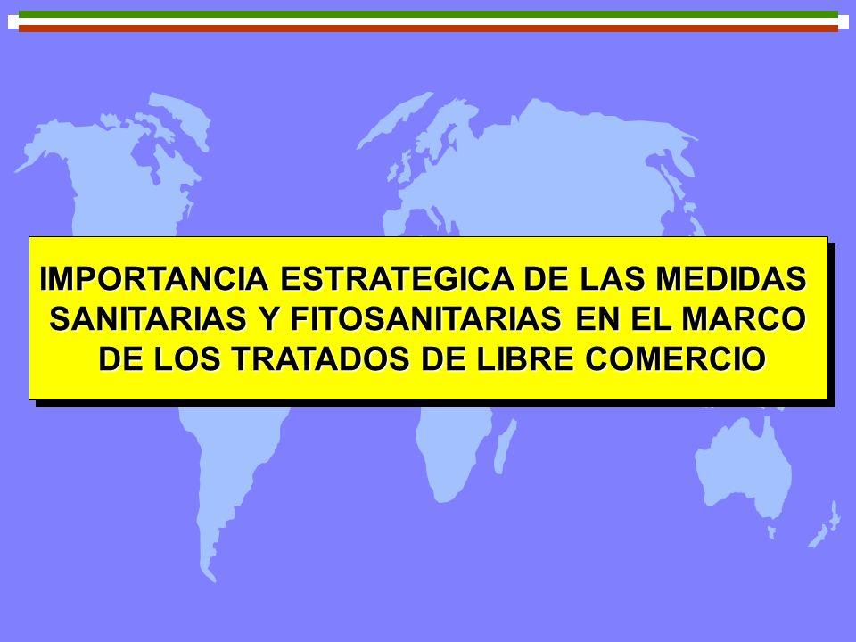 IMPORTANCIA ESTRATEGICA DE LAS MEDIDAS SANITARIAS Y FITOSANITARIAS EN EL MARCO DE LOS TRATADOS DE LIBRE COMERCIO DE LOS TRATADOS DE LIBRE COMERCIO IMP