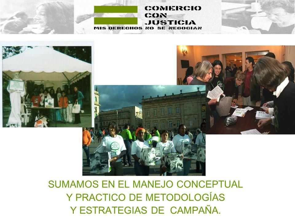 SUMAMOS EN EL MANEJO CONCEPTUAL Y PRACTICO DE METODOLOGÍAS Y ESTRATEGIAS DE CAMPAÑA.