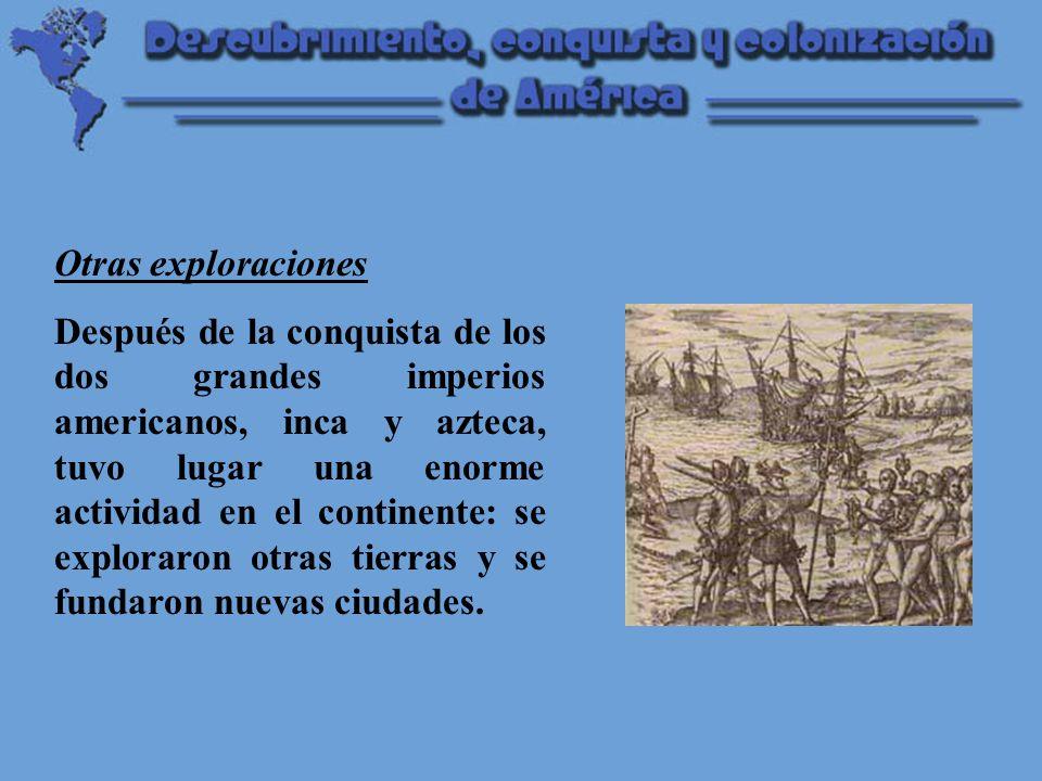 La penetración española fue muy débil en América del Norte, por causa de la escasez de población de las Antillas y por dificultades de carácter geográfico.