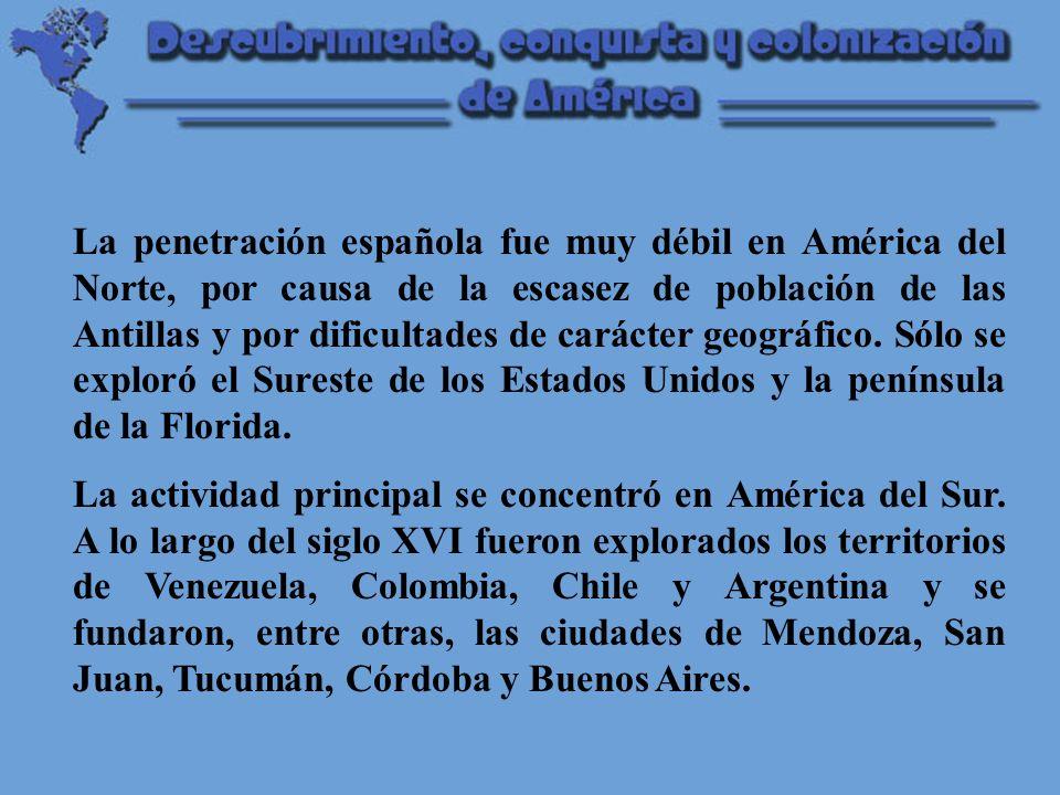 La organización política de las Indias Los territorios americanos se incorporaron a la Corona de Castilla y fueron divididos en dos virreinatos, Nueva España y Perú.