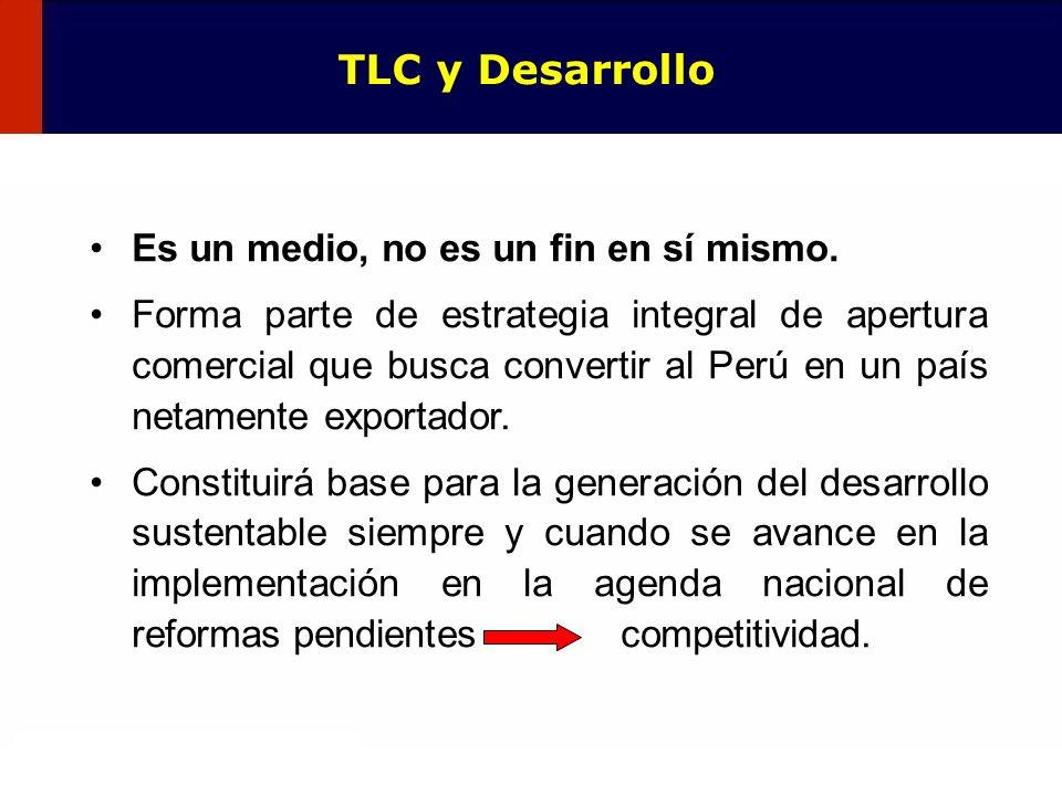 132 Es un medio, no es un fin en sí mismo. Forma parte de estrategia integral de apertura comercial que busca convertir al Perú en un país netamente e