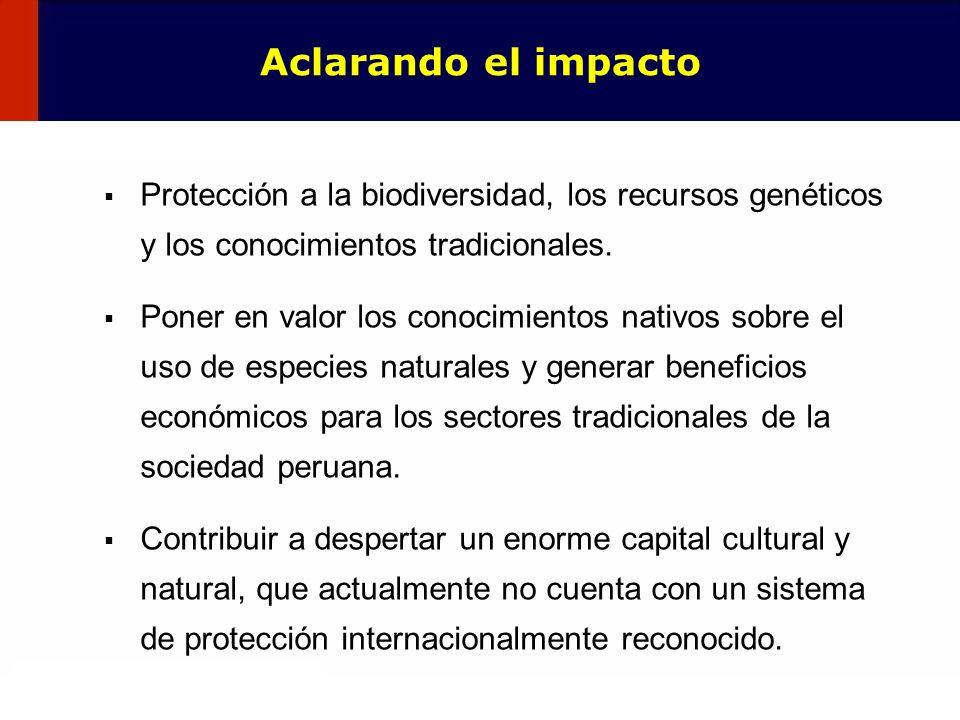 86 Protección a la biodiversidad, los recursos genéticos y los conocimientos tradicionales. Poner en valor los conocimientos nativos sobre el uso de e