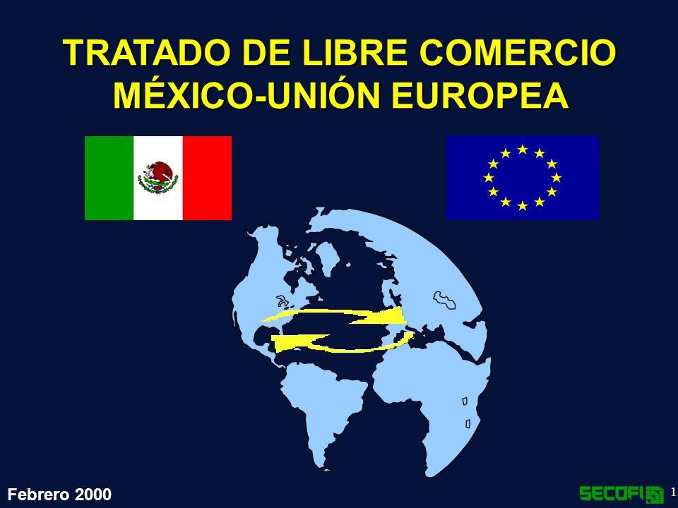22 Acceso a mercados Se eliminarían gradual y recíprocamente los aranceles a la importación Reconocería la asimetría entre México y la UE mediante plazos de desgravación diferenciados para los distintos sectores.