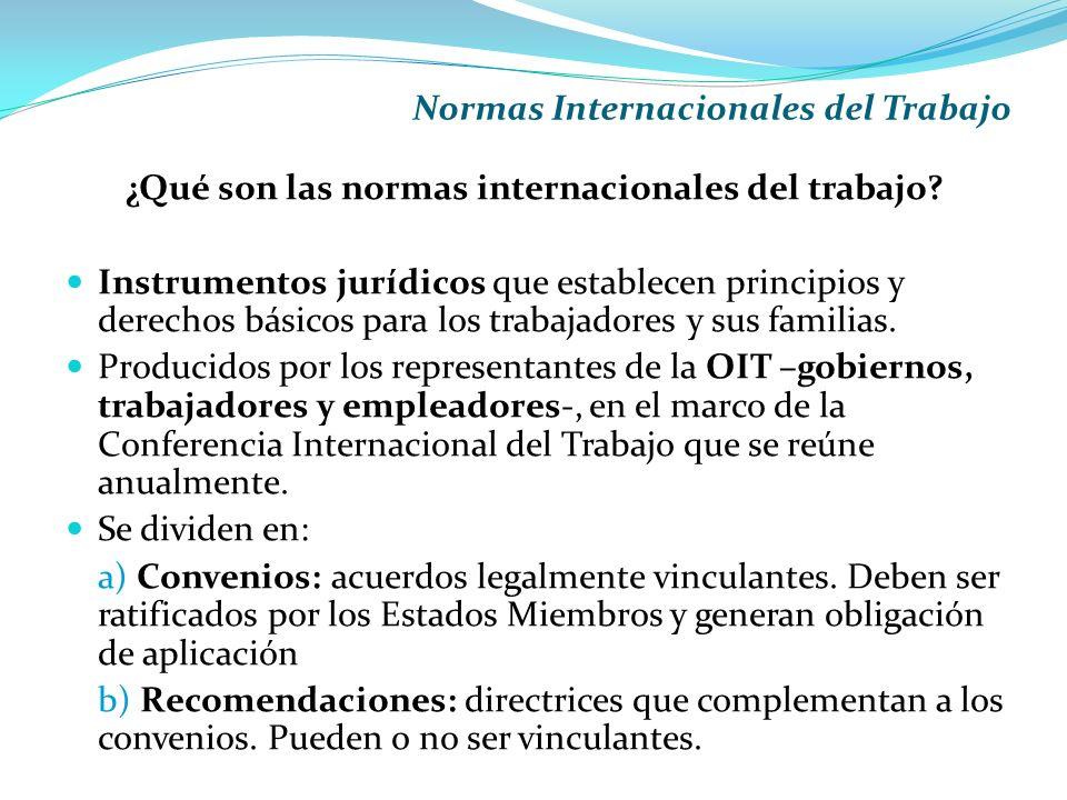 Normas Internacionales del Trabajo ¿Qué son las normas internacionales del trabajo.