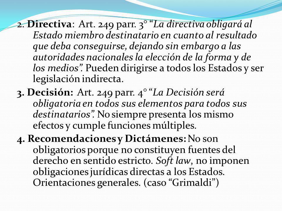 2.Directiva: Art. 249 parr.