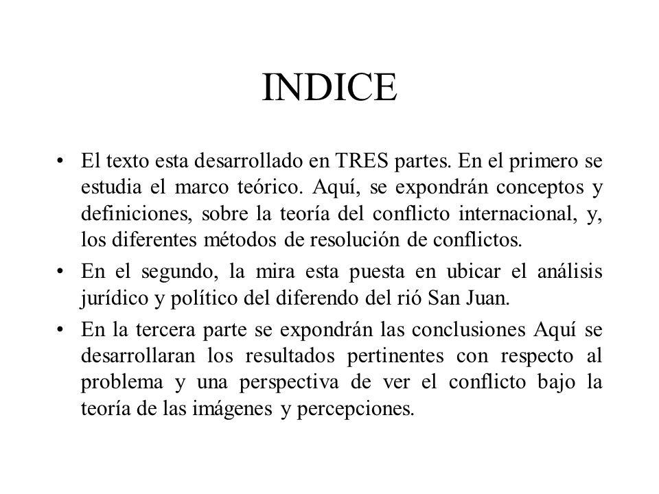 INDICE El texto esta desarrollado en TRES partes. En el primero se estudia el marco teórico. Aquí, se expondrán conceptos y definiciones, sobre la teo