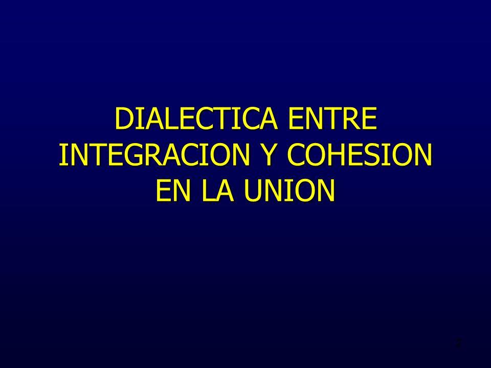 2 DIALECTICA ENTRE INTEGRACION Y COHESION EN LA UNION