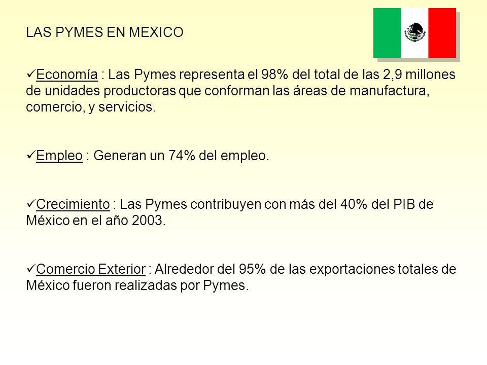 Economía : Las Pymes representa el 98% del total de las 2,9 millones de unidades productoras que conforman las áreas de manufactura, comercio, y servicios.