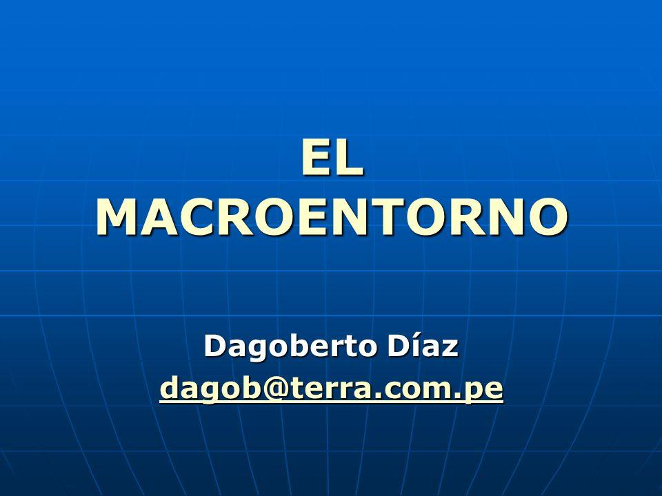 ANÁLISIS DEL ENTORNO MACROECONÓMICO Está representado por las REGLAS DE JUEGO económicas que norman un país.
