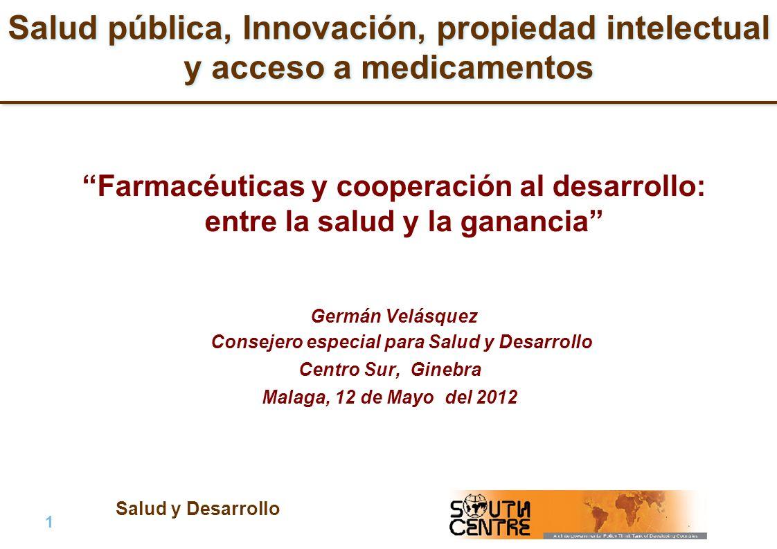 Salud y Desarrollo 2 |2 | PubPub Plan de la presentación 1.Problema global sobre el acceso a medicamentos: antecedentes y situación actual.