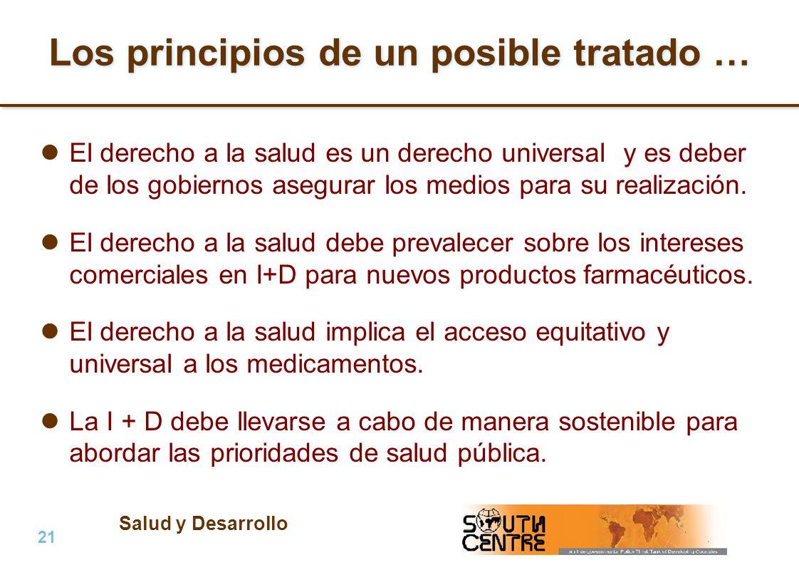 Salud y Desarrollo 21 | PubPub Los principios de un posible tratado … El derecho a la salud es un derecho universal y es deber de los gobiernos asegur