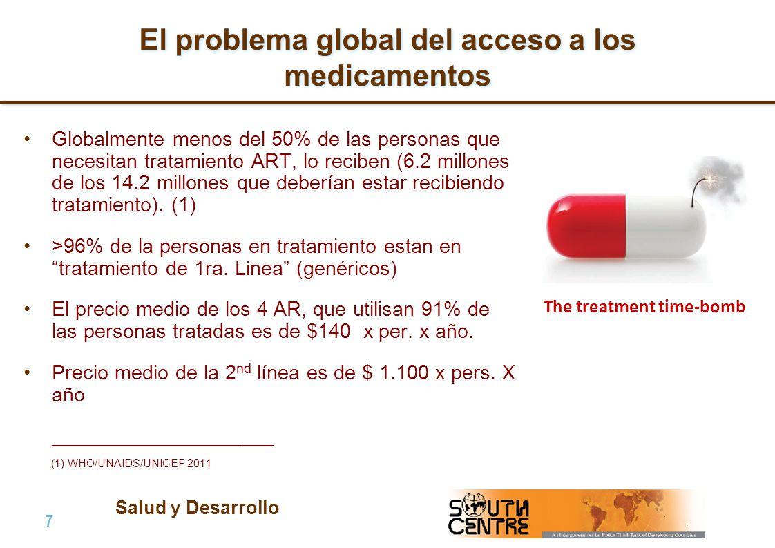 Salud y Desarrollo 7 |7 | PubPub El problema global del acceso a los medicamentos Globalmente menos del 50% de las personas que necesitan tratamiento