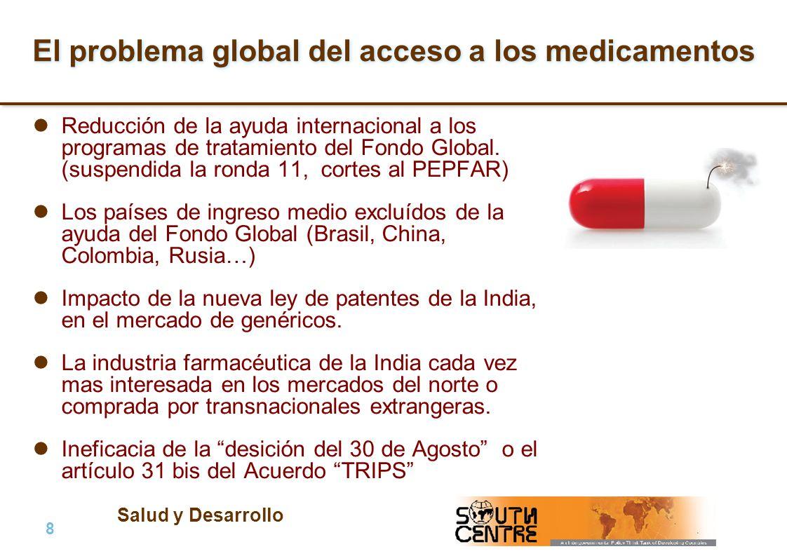 Salud y Desarrollo 9 |9 | PubPub Plan de la presentación 1.Problema global sobre el acceso a medicamentos: antecedentes y situación actual.