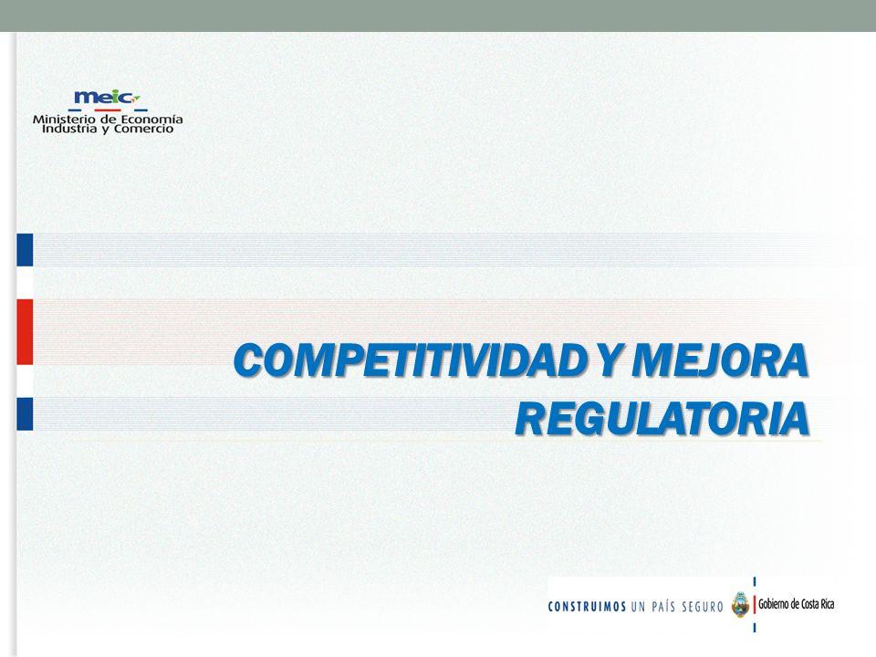 COMPETITIVIDAD Y MEJORA REGULATORIA COMPETITIVIDAD Y MEJORA REGULATORIA