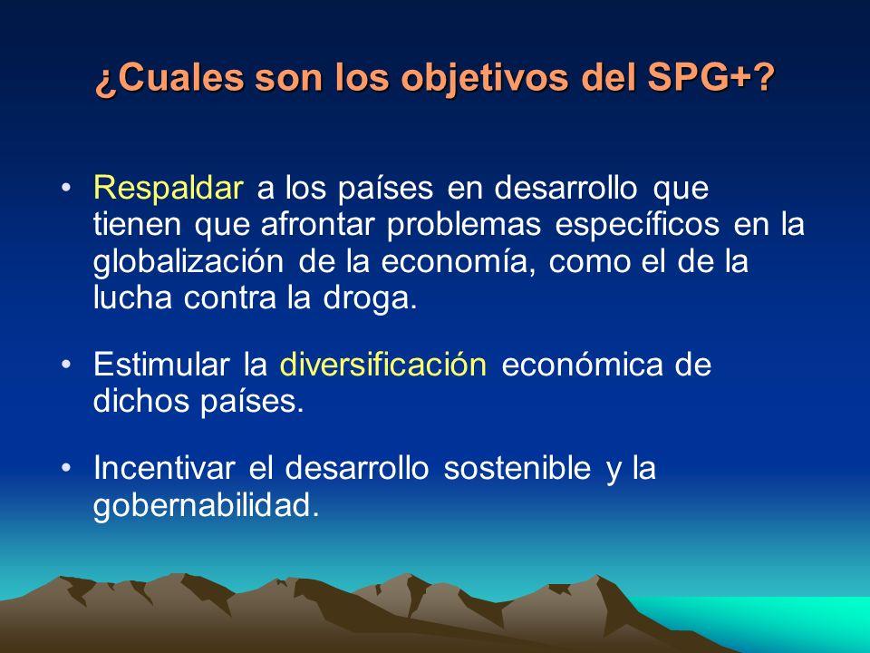 ¿Cuales son los objetivos del SPG+.