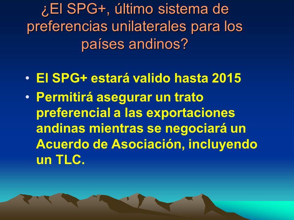 ¿El SPG+, último sistema de preferencias unilaterales para los países andinos.