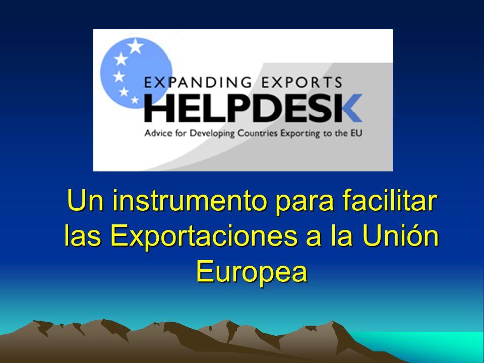 Un instrumento para facilitar las Exportaciones a la Unión Europea