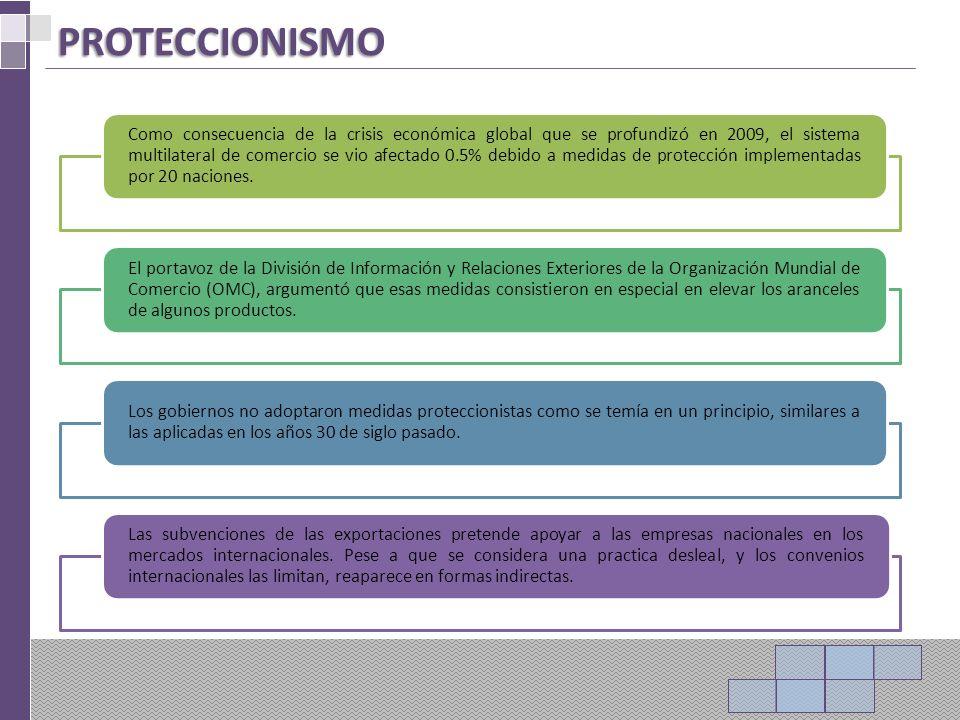 ORGANISMO MUNDIAL DEL COMERCIO (OMC) Es la única organización internacional que se ocupa de las normas que rigen el comercio entre los países.
