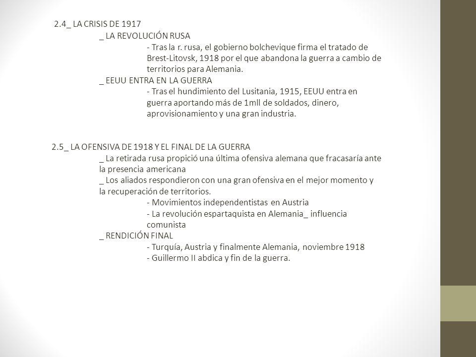 2.4_ LA CRISIS DE 1917 _ LA REVOLUCIÓN RUSA - Tras la r.