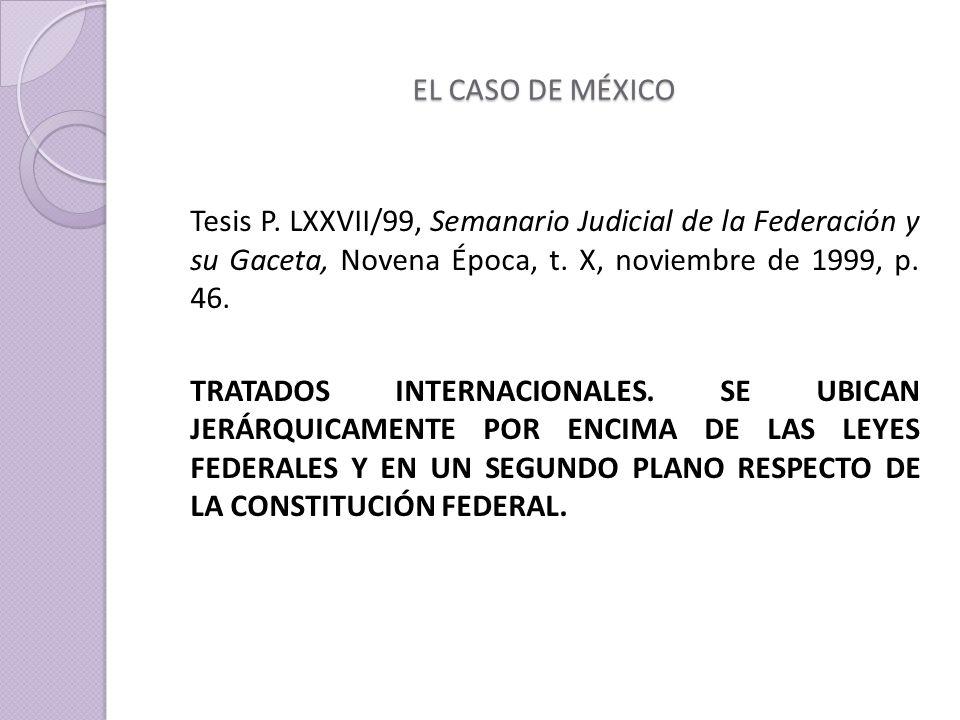 EL CASO DE MÉXICO Tesis P.