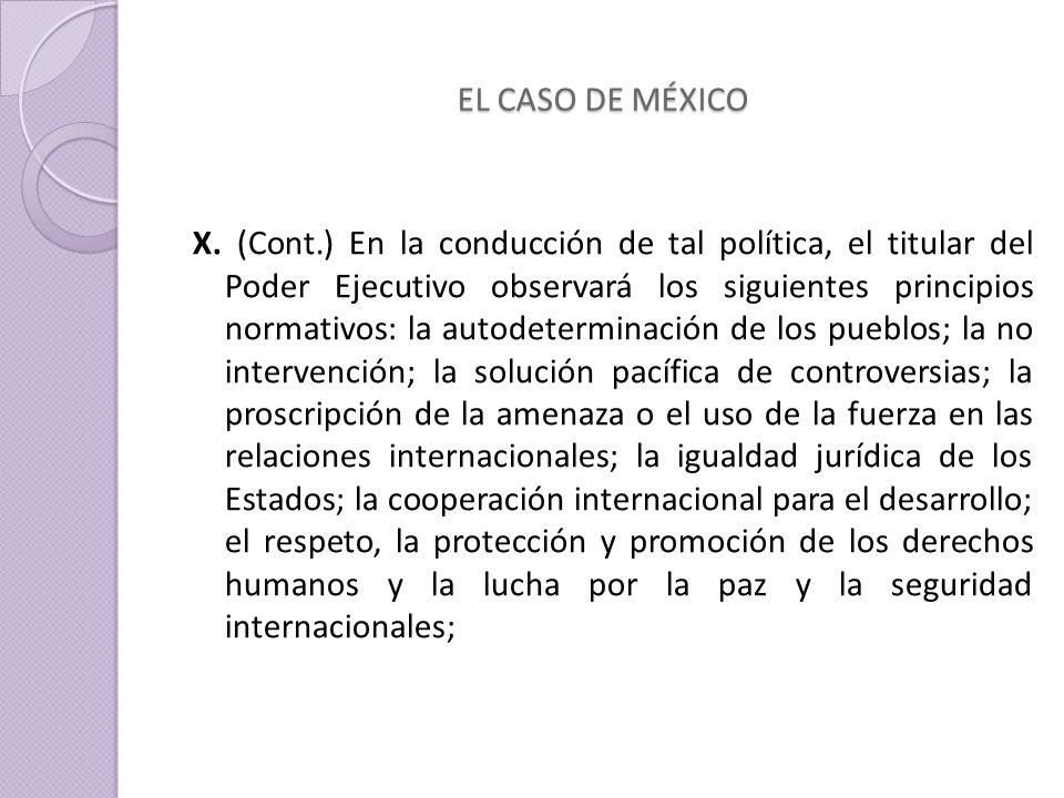 EL CASO DE MÉXICO X.