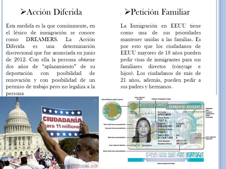 La Inmigración en EEUU tiene como una de sus prioridades mantener unidas a las familias. Es por esto que los ciudadanos de EEUU mayores de 18 años pue