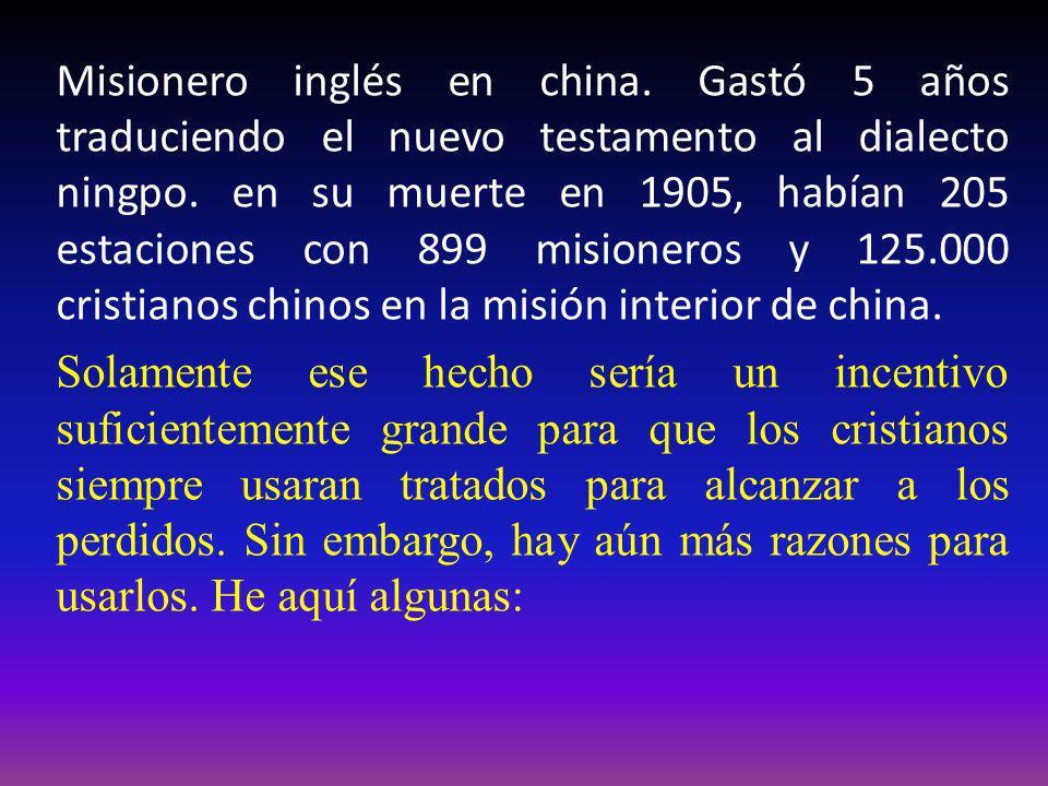 Misionero inglés en china. Gastó 5 años traduciendo el nuevo testamento al dialecto ningpo. en su muerte en 1905, habían 205 estaciones con 899 mision