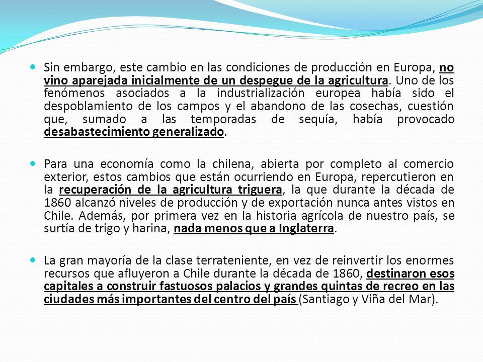 Sin embargo, este cambio en las condiciones de producción en Europa, no vino aparejada inicialmente de un despegue de la agricultura. Uno de los fenóm
