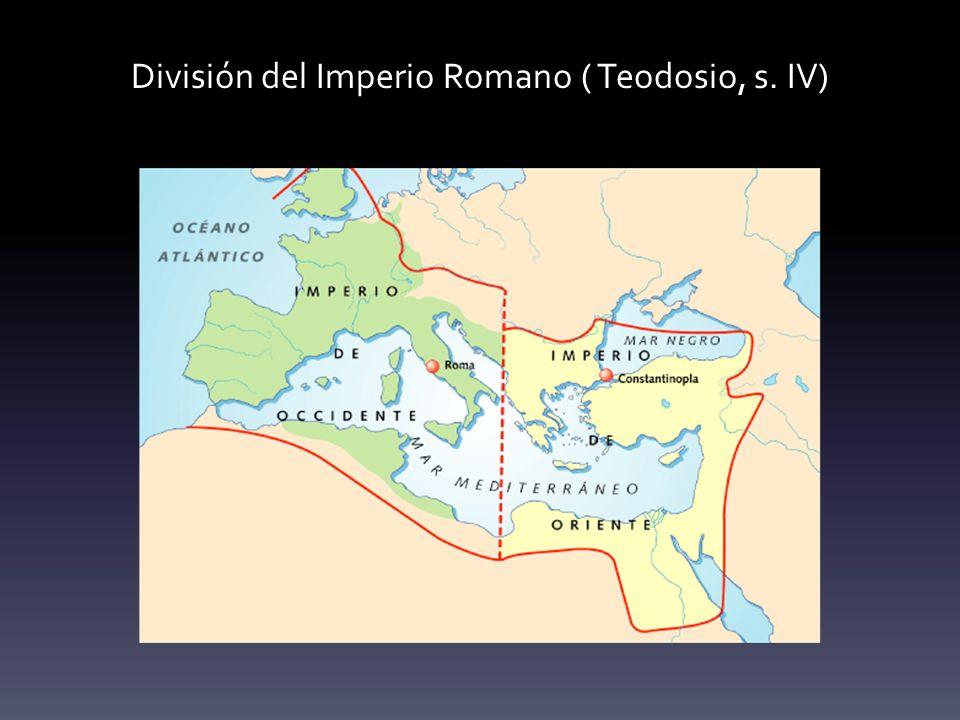 División del Imperio Romano ( Teodosio, s. IV)