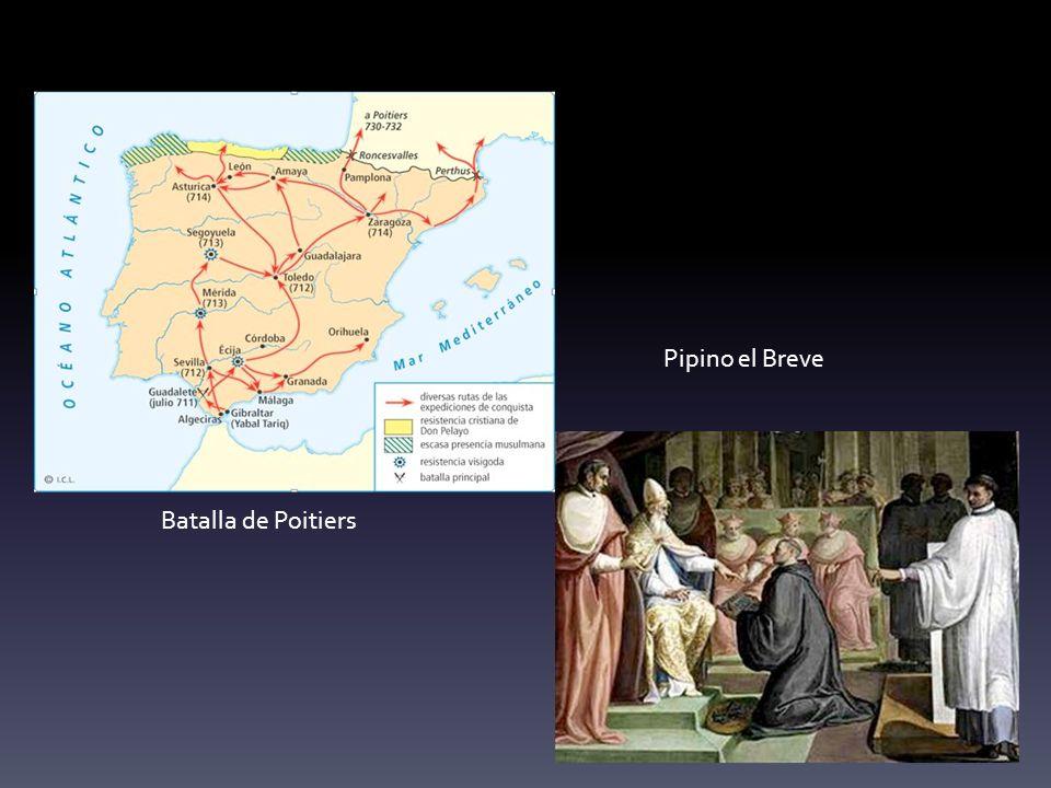 Batalla de Poitiers Pipino el Breve